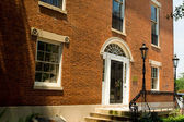 Red Brick Federal Adamsesque Home Washington DC — Stock Photo