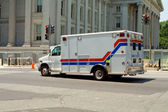 Ambulance on Street Treasury Department Washington — Stock Photo