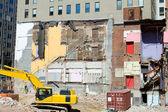 Building Demolition Underway Heavy Equipment DC — Stock Photo