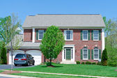 Front Brick Single Family House Home Suburban MD — Stock Photo