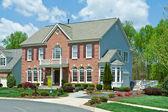 Sale Brick Single Family House Home Suburban USA — Stock Photo