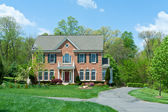 Brick Single Family House Home Suburban MD USA — Stock Photo