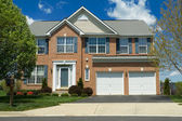 Front View Brick Single Family Home Suburban MD — Stock Photo