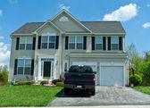 Vinyl Siding Single Family House Suburban Maryland — Stock Photo
