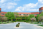 New Brick Office Building Trees Suburban MD USA — Stock Photo