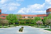 New Brick Office Building Trees Suburban MD USA — Stock Photo