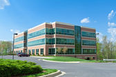 Modern Cube Office Building Parking Suburban MD — Stock Photo