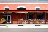Facade Southwest Cafe Restaurant Sidewalk United States — Stock Photo