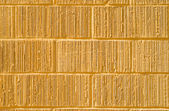 Full Frame Yellow Grooved Brick Wall — Stock Photo