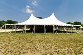 Large White Event Tent, Grass, Blue Sky — Stock Photo