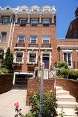 Elegant Federal Red Brick Row Home Washington DC — Stock Photo