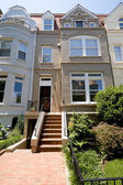 Richardsonian Romanesque Row House Home Washington — Stock Photo