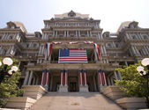Government Building Washington Decorated July 4th — Stok fotoğraf