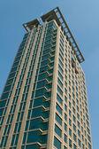 Modern Skyscraper Office Building Shanghai China Blue Sky Backgr — Stock Photo