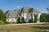 French Chateau Style Single Family House Suburban Philadelphia, — Stock Photo