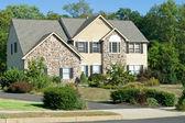 New Stone Faced Single Family Home Suburban Philadelphia, Pennsy — Stock Photo
