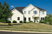 Modern Single Family Home in Suburban Philadelphia, PA Quoins — Stock Photo