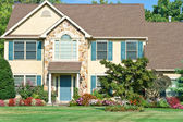 Landscaped Family Home Suburban Philadelphia PA — Stock Photo