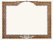 Old Vintage Stock Certificate Empty Boarder — Stock Photo
