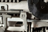 Semi Abstract Macro Close-up of Machine Parts, Spring — Stock Photo