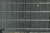 XXXL Full Frame Dirty Silver Metal Grate — Stock Photo