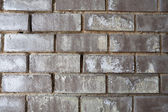 XXXL Weathered Black Brick Wall with White Mineral Deposits — Stock Photo