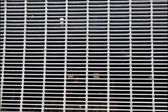 XXXL Full Frame Dirty Silver Metal Grate — Stock Photo
