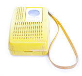 XXXL 1960's Yellow Plastic Transistor Radio Isolated White Backg — Stock Photo