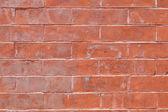 Xxxl celoobvodové výstřední červená cihlová zeď — Stock fotografie