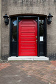 Red Door Old Building Savannah Georgia — Stock Photo