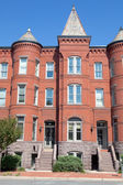 Richardsonian Romanesque Brick Row Home Washington — Stock Photo