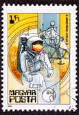 Postage Stamp Apollo 11 Moon Walk Space Suit — Stock Photo