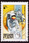 Postage Stamp Apollo 11 Moon Walk Space Suit — Stock Photo