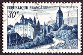 Stamp Chateau Bontemps, Arbois Jura Vinyard Stream — Stock Photo