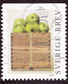 Stamp Philip Von Schantz Peck Green Apples Box — Stock Photo