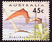 Canceled Australia Australian Postage Stamp Bird-Like Ornithoche — Stock Photo