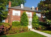 Georgian Colonial Style Brick Single Family House Washington DC — Stock Photo