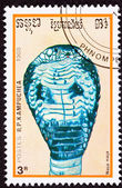 Canceled Cambodian Postage Stamp Spectacled Indian Cobra Naja Na — Stock Photo