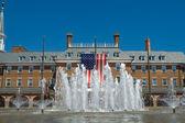 Colonial Revival City Hall Alexandria Virginia American Flag Fou — Stock Photo