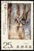 Stamp Red Phoenix Cave Painting Goguryeo Koguryŏ — Stock Photo