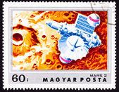Stamp Soviet Space Craft Mars 2 Martian Crater — Stok fotoğraf
