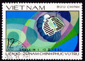 Postage Stamp Soviet Venus Space Probe Venera 1 — 图库照片