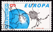 Postage Stamp Czechoslovakian Built Magion 2 Earth Magnetosphere — Stock Photo