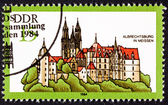 Canceled East German Postage Stamp Historic Gothic Albrechtsburg — Stock Photo