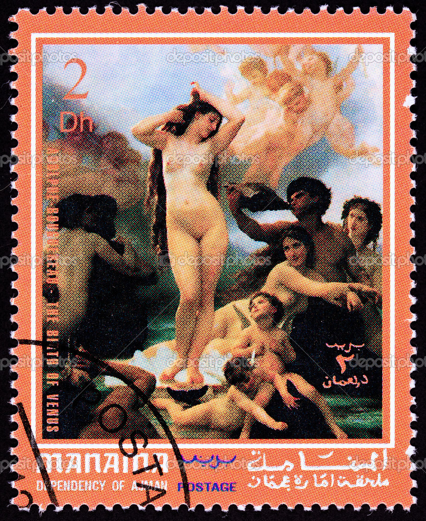 Adolphe Bougireau Birth of Venus.  Manama, Ajman State, which is part of the United Arab Emirates.  Stock Photo #7894429