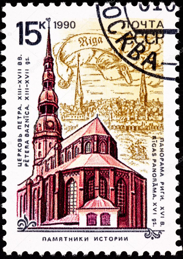 St. Peter's Church, Riga, Latvia dates from 1209. — Stock Photo #7894534