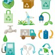 Cartoon eco icon - Stock Vector