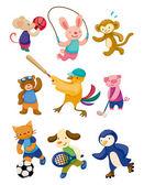 Cartoon animal sport player — Stock Vector