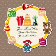 Royalty-Free Stock Vector Image: Cartoon birthday card