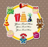 Cartoon birthday card — Stock Vector
